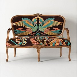 Anthropologie - Louisa Settee, Cockatoo