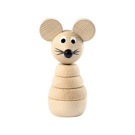 sarah&bendrix - Gilbert - Wooden Stacking Mouse Toy - sarah & bendrix