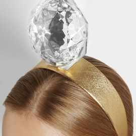 PIERS ATKINSON - Mega-Diamond embellished leather headband