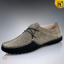 cwmalls - Mens Leather Driving Moccasin Shoes CW740100