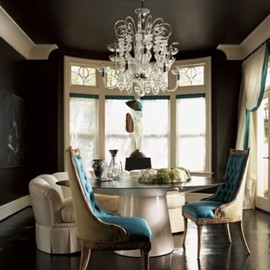 turquoise touch for the interiors
