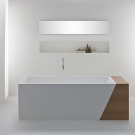 OMVIVO - Latis Bath with Timber Storage End
