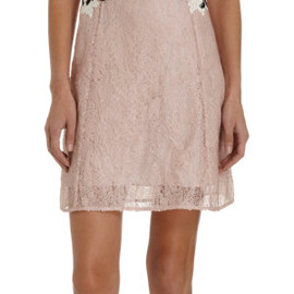 ERDEM - Sequin And Lace Sleeveless Cocktail Mini Dress