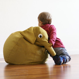 Beige Walrus bean bag