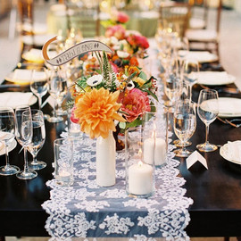 Project Wedding - Sheer Lace Table Runner
