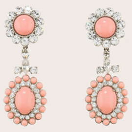 miu miu - Miu Miu Plexiglas and Swarovski cabochon dangle earrings 1