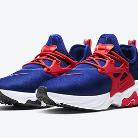 NIKE - React Presto - Obsidian/University Red/White