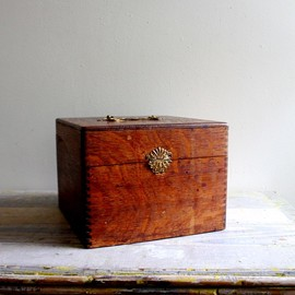 Oversized 1920's Shaw Walker File Box