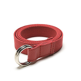 Whitehouse Cox - LOFTMAN別注 Narrow Canvas Ring Belt-Red×Red