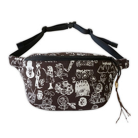 NADA. - Origainal silk print west bag / Chocolate