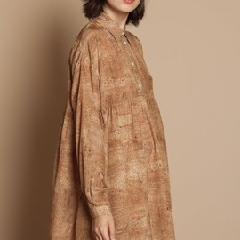 Opening Ceremony - oversized cork print  shirt dress
