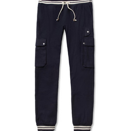 Band of Outsiders - Straight-Leg Cotton and Wool-Blend Trousers