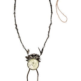 VALENTINO - Oxidized silver-plated crystal necklace