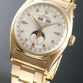 ROLEX - MOONPHASE OYSTER with STAR DIAL 6062 K18YG
