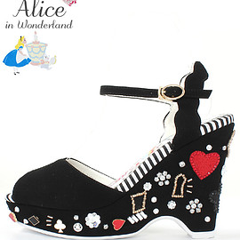 RANDA - Disney Alice in Wonderland●Playing card suits wedges