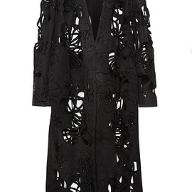 MARNI - FW2015 Laser-Cut Raw Felt Wrap Coat