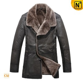 CWMALLS - Multifunctional Coat | CWMALLS® Men Shearling Leather Coats CW819072[Custom Made, Father's Day Gift]