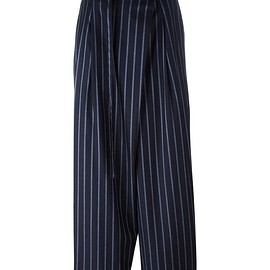 Enföld - belted loose-fit striped trousers