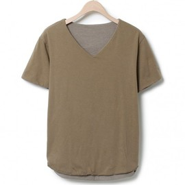 nonnative - STUDENT W FACE TEE S/S V - C/E MARBLE JERSEY