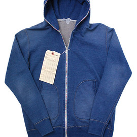 Jackson Matisse - Rainbow Zip Up Hood NAVY