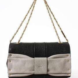 Chloe - June clutch bag・black/cashemere grey