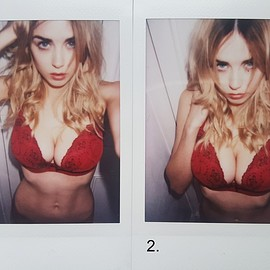 Danielle Sharp - Red Lingerie Polaroids