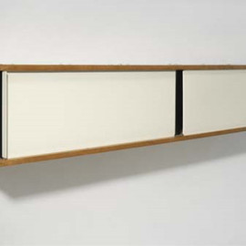 Charlotte Perriand - Bookshelf, 1951  Painted metal, oak, plastic. Editioned by Steph Simon, France.