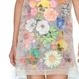 Floral Sticker Organza Dress by Christopher Kane - Floral Sticker Organza Dress, S/S12
