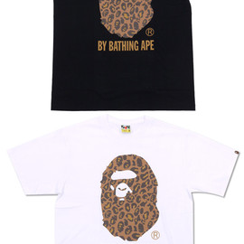 A BATHING APE - LEOPARD BY BATHING APE TEE