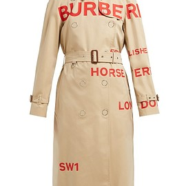 BURBERRY - SS2019 Horseferry Print Cotton Gabardine Trench Coat