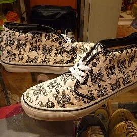 "vans - 「<deadstock>90's vans CHUKKA BOOT skullpirates""made in USA"" size:US9/h(27.5cm) 25800yen」完売"