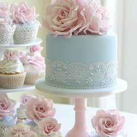 Baby Blue Lace Cake