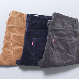 vendor Things - SLIM FIT CORD STRETCH PANTS