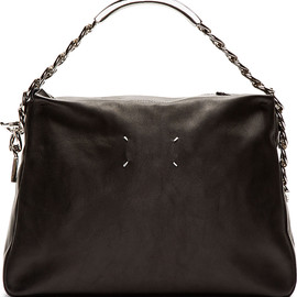 Maison Martin Margiela - Black Leather Chain Detail Shoulder Bag