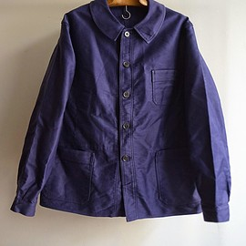 "1950s french work blue jacket ""dead stock"""