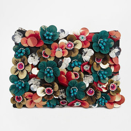asos - ASOS Clutch Bag With Flower Embellishment