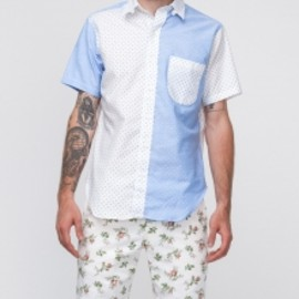 mark mcnairy - Small Dot Tab Collar Fun Shirt