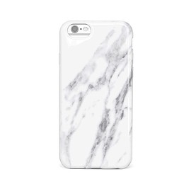 uniq find - ULTRA-LUX GLOSSY MARBLE IPHONE CASE - WHITE