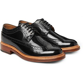Grenson - Sid Polished-Leather Wingtip Brogues