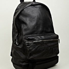 EASTPAK, KRIS VAN ASSCHE - Leather Backpack in Black