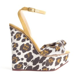 Charlotte Olympia - OPEN TOE SHOES W/ANKLE STRAP LEOPARD