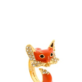 kate spade NEW YORK - INTO THE WOODS FOX WRAP RING