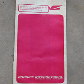"BRANIFF INTERNATIONAL - ""Barf bag"" Designed by Alexander-Girard"