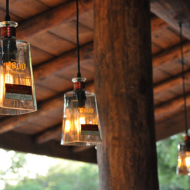 heirloom2011 - Recycled 1800 Tequila Bottle Pendant Lamp
