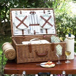 Gourmet Picnic Basket for Four
