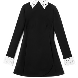 VALENTINO - Long Sleeved Dress With Embroidered Collar And Cuffs