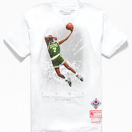 Mitchell & Ness - Dee Brown in '91 Slam Dunk Contest Tee - White