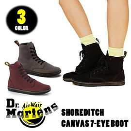 Dr.Martens - Dr.Martens SHOREDITCH 7-EYE BOOT ハイカットキャンバススニーカー