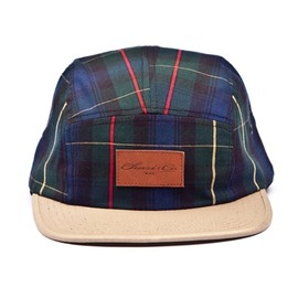 chari & co nyc - CLEATHER PATCH 5PANEL PLAID CAP
