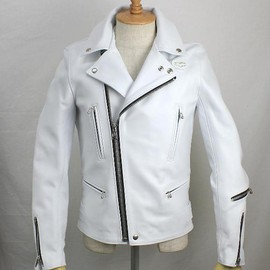 Lewis Leathers - Tight Fit 402Lighitning (White)